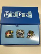 DISNEY LITTLE MERMAID THEME PARK PACK PIN SET LIMITED EDITION 500