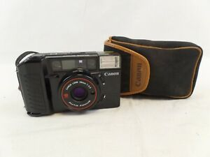 Black Canon Camera AF35m Auto Focus 38mm Lens, Flash with Case