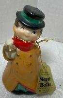 Vintage Jasco Bisque Porcelain 1978 Merri Bell Lamplighter Figure Bell