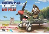 Tiger Model TT002 CUTE Series WWII U S P-40 Warhawk Fighter and Pilot