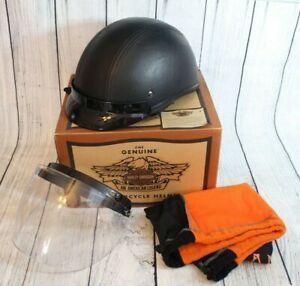 Harley Davidson Lone Rider Motorcycle Helmet Size Medium Black w/ Face Shield