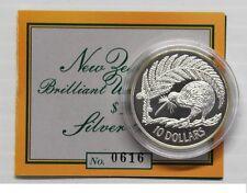 New Zealand - 1998 - Silver $10 Proof Coin-  1 OZ   Kiwi Rare