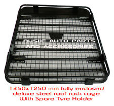 Fully Enclosed Deluxe Steel Roof Rack 1350mm for Holden Rodeo 1984-2008 Dual Cab