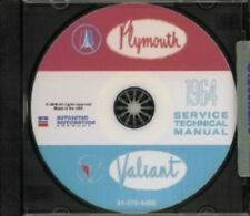 PLYMOUTH 1964 Fury/Valiant/Belvedere Shop Manual CD 64