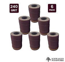 Drum Sander Sanding Wraps/Rolls, 240g for JET/Performax 16-32 &Ryobi WBS1600, 6