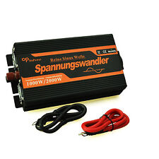 Convertisseur 12V 220V sinusoïdal pur 1000W 2000W Pure Sine Wave Inverter Car RV