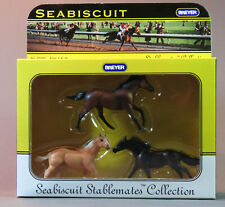 Breyer Stablemate Seabiscuit Collection  3 Horses MIB NR 2003 1:32 scale 10103