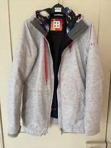 Roxy Grey Long Slim Fit Medium Ski Jacket