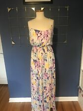Pink Blush Maternity Dress Large - Floral Maxi