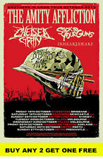 THE AMITY AFFLICTION 2013 Australian  Laminated  Tour Poster