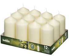 Bolsius Professional 128mm Pillar Candles Ivory - Tray of 12 Quality Candles