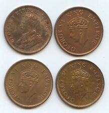 India British 1/4 Annas 1936, 1939, 1940 & 1941 (#1562) Nice uncirculated coins.