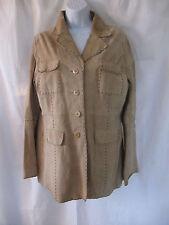 Wet Seal Natural Leather Suede Blazer Jacket Size L