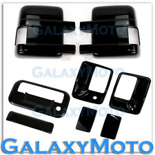 08-15 Ford Super Duty Gloss Black Mirror+2 Door Handle w/o PSG KH+Tailgate Cover