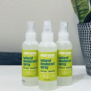EO Natural Deodorant Tea Tree Lavender Spray Lot of 3 Everyone Vegan Gluten Free