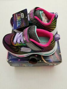 Skechers S Lights Litebeams Gleam N Dream Kid Toddler Light Up Shoes 10959/BKMT