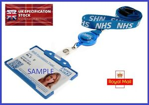 NHS Lanyard with Metal Clip OR Integrated Badge Reel + ID Card Holder SELECT SET