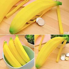 Monedero Estuche Portátil Novedad Cartera Bolso De Silicona Lindos Banana Pluma