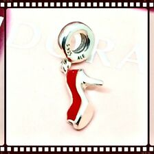 Pandora Silver Red Stiletto Shoe Dangle Charm S925 ALE