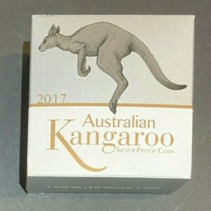 2017 Perth Mint 1/4oz Silver Proof Coin Australian Kangaroo