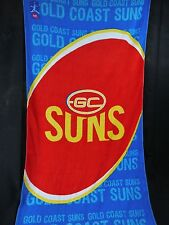 OFFICIAL AFL TEAM GOLD COAST SUNS BEACH OR BATH TOWEL 152 cm x 76 cm NEW COTTON