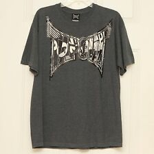 TAPOUT Mens Short Sleeve Gray Graphic T-Shirt Size Large