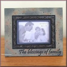 The Blessings of Family Frame by Heartstone Holds 4 x 6 Photo Free U.S. Ship