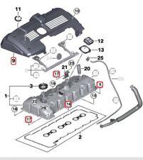 Genuine BMW N52 Engine Valve Cover Gaskets, Bolts Kit E90,E60,Z4 128 328 528 X3