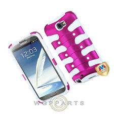 Samsung N7100 Galaxy Note 2 Shield Fishbone Hot Pink/White Case Cover Shell