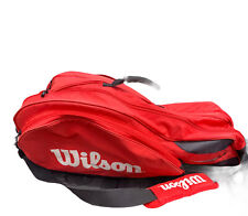 Wilson Tour Tennis Bag w/Thermo Guard - Red Excellent Multiple Racket Space