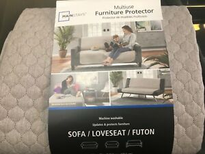 Sofa/Loveseat/Futon Quilted Furniture Protector 56x75 gray machine washable