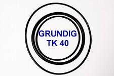 SET RIEMEN GRUNDIG TK40 TONBANDMASCHINE EXTRA STRONG FABRICKFRISCH NEU TK 40