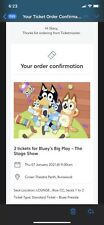 Amazing BLUEY live PERTH show tickets - 3 rows from stage