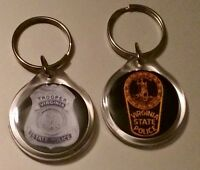 Thin Blue Line * Police * Sheriff * Military * Key Chain