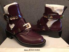 Original BALENCIAGA Ceinture  Cut Out Boots Burgundy 39 Biker Stiefeletten