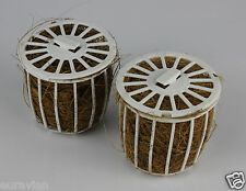 NESTING MATERIAL HOLDERS REFILLABLE x 2 Coco Fibre