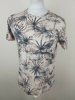 Mens Ted Baker Floral T Shirt Pink Size 4 Medium Large 40 Chest Vgc