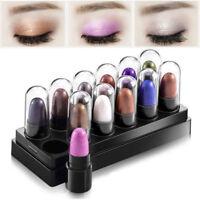 12Pcs Beauty Highlighter Shimmer Glitter Metallic Eyeshadow Stick Pen Cosmetic