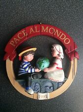 Hallmark Peace on Earth Italy 1991 Ornament MINT Pace Almondo Keepsake