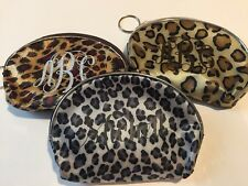 Monogram / Personalized Leopard Print Coin Purse / Mini Wallet Keychain