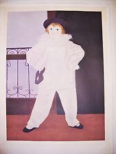 "Original Framed ""Paul en Pierrot"" Picasso #-D Lithograph Estate Issued 26x33 EUC"