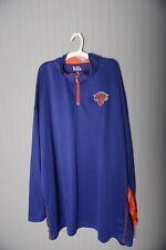 New York Knicks Basketball Nba Mens1/2 Zip Pullover Wind jacket Shirt 2Xlt