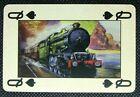 1 x Playing card Single Hornby Railways Train Steam Engine Queen Spades