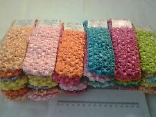 48pcs Girls Baby Crochet Headband With 1.5 inch Acrylic free shipping