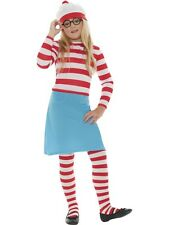 Childs Where's Wally Costume Girls Wenda Fancy Dress Boys Book Week Outfit Kids