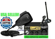 COBRA CB RADIO KIT w/ RUBBER DUCK ANTENNA MAGNETIC MOUNT CABLE UNIDEN GALAXY PA