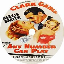 Any Number Can Play _ Clark Gable Alexis Smith V rare 1949