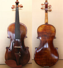 Antique Finish-Beautiful Hand-Made & Varnished 1/2 Violin/ Free Case & Bow