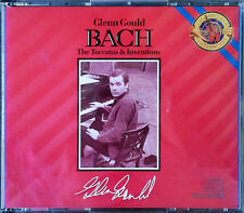 GLENN GOULD - TOCCATAS & INVENTIONS / PIANO KLAVIER- COLUMBIA - (2) CD SET -1987