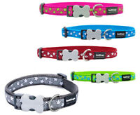 Red Dingo STAR Dog/Puppy Collar - PINK RED BLUE GREY GREEN - XS- LRG Free P&P
